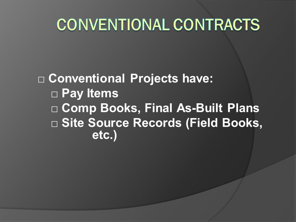 Conventional Contracts