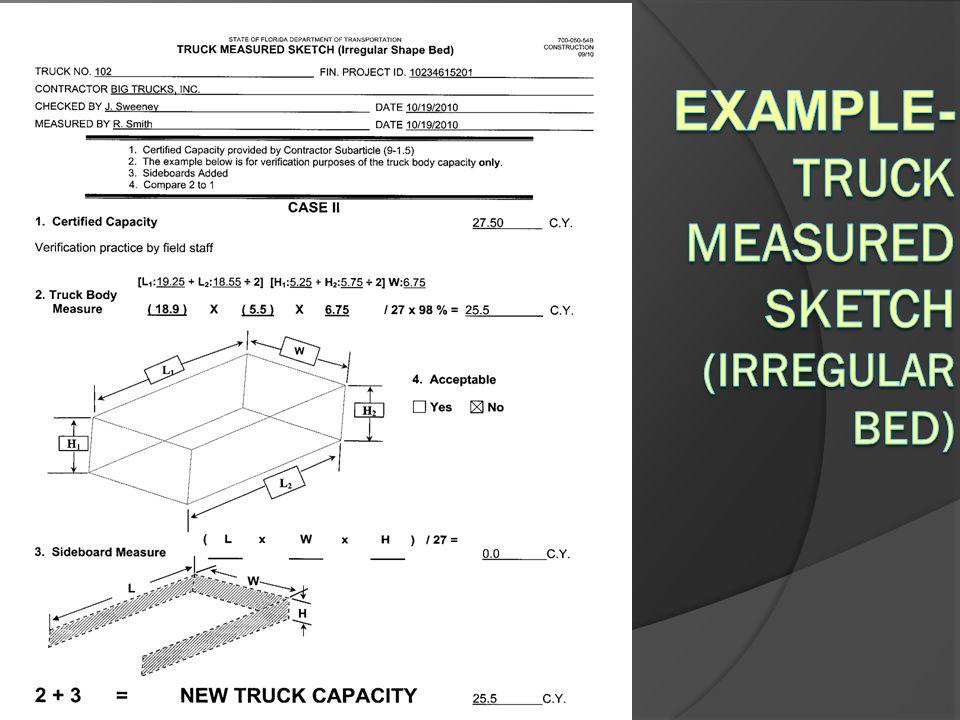 EXAMPLE-Truck Measured Sketch (Irregular Bed)