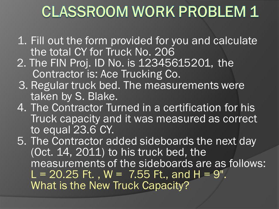 Classroom Work Problem 1