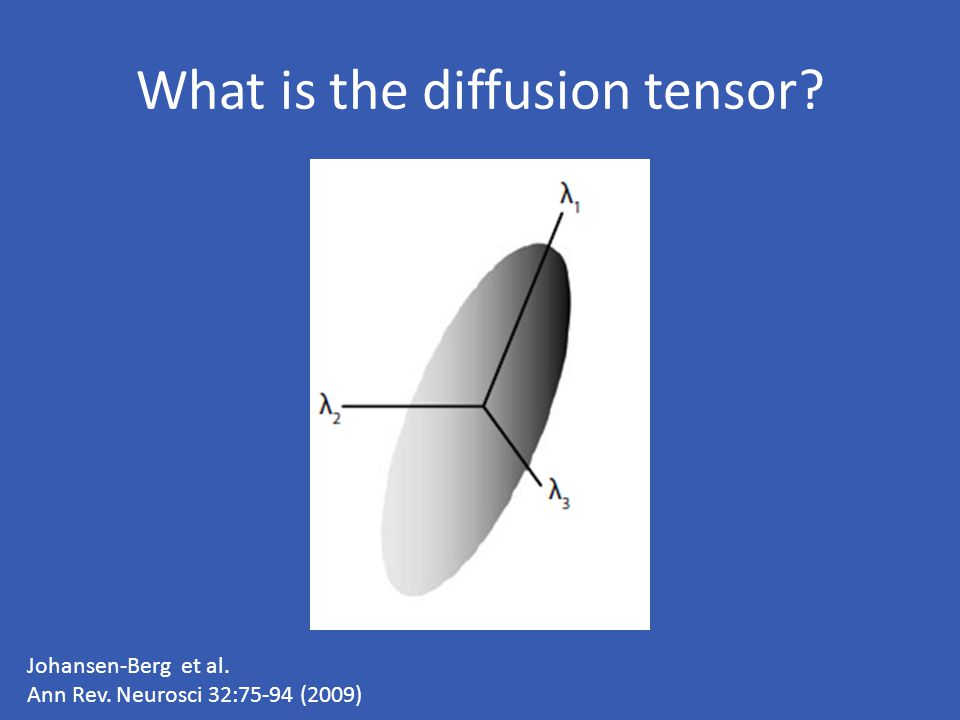 What is the diffusion tensor