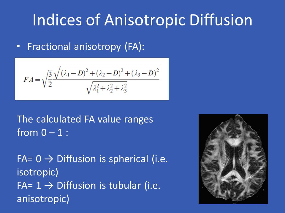 Indices of Anisotropic Diffusion