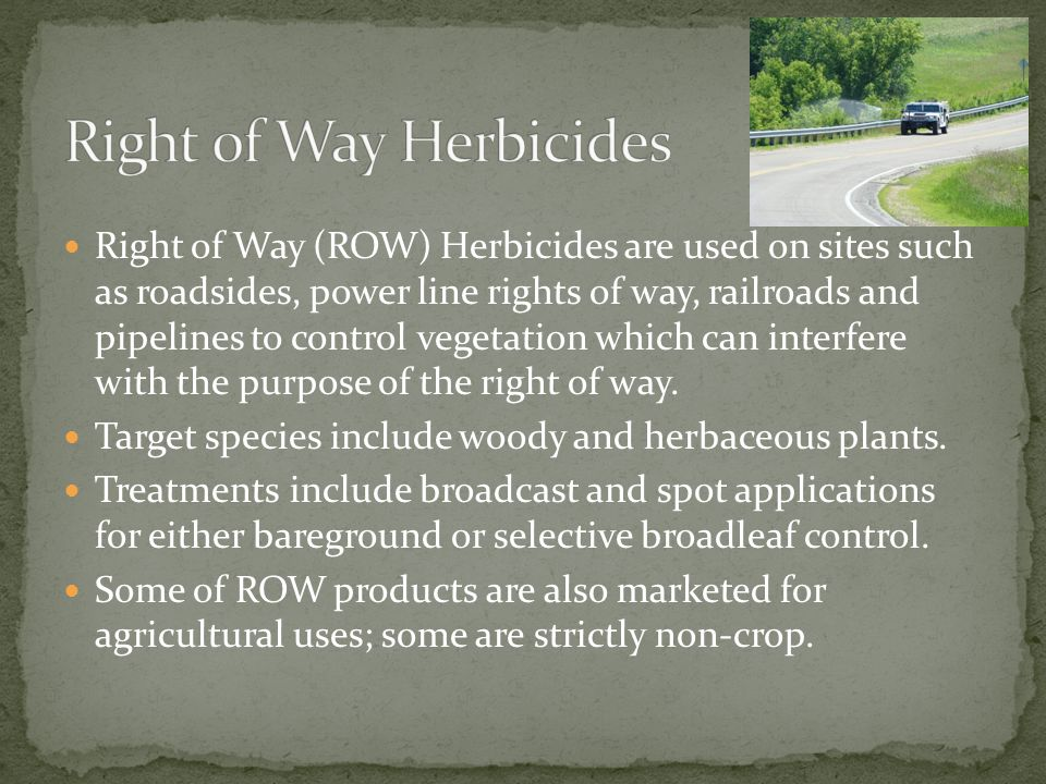 Right 0f Way Herbicides