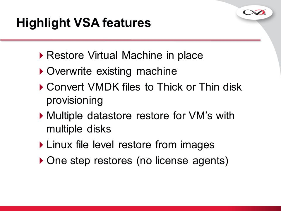 Highlight VSA features