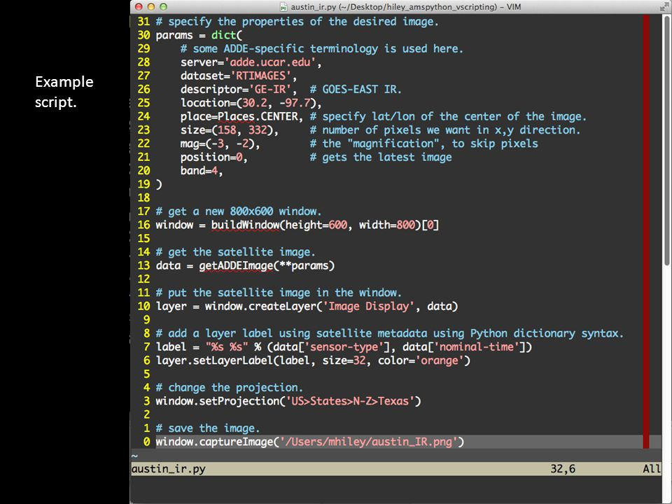 Example script.