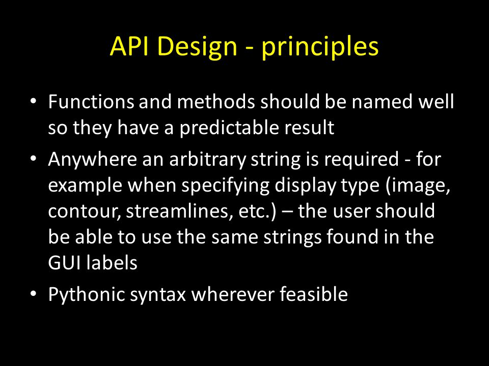 API Design - principles