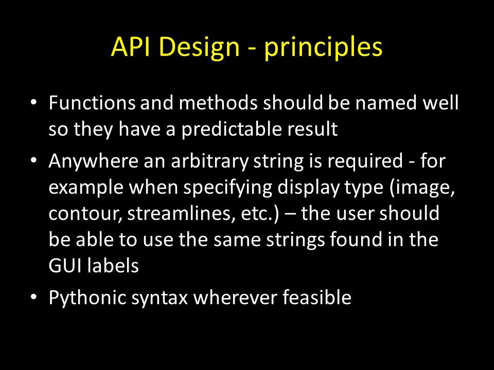 API Design - principles