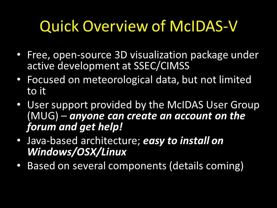 Quick Overview of McIDAS-V