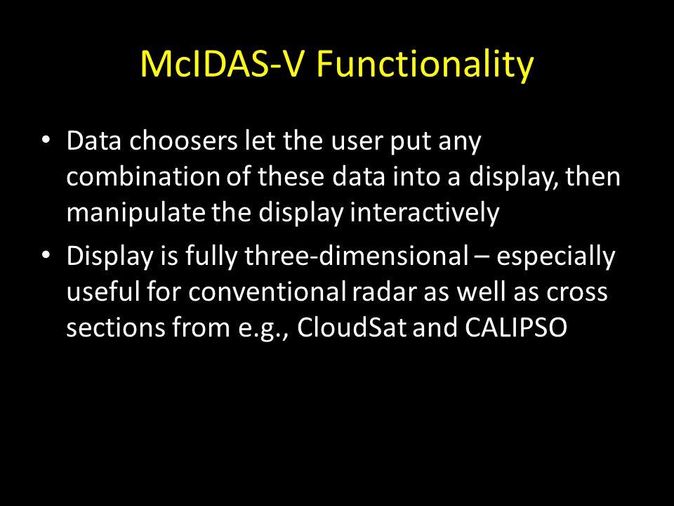 McIDAS-V Functionality