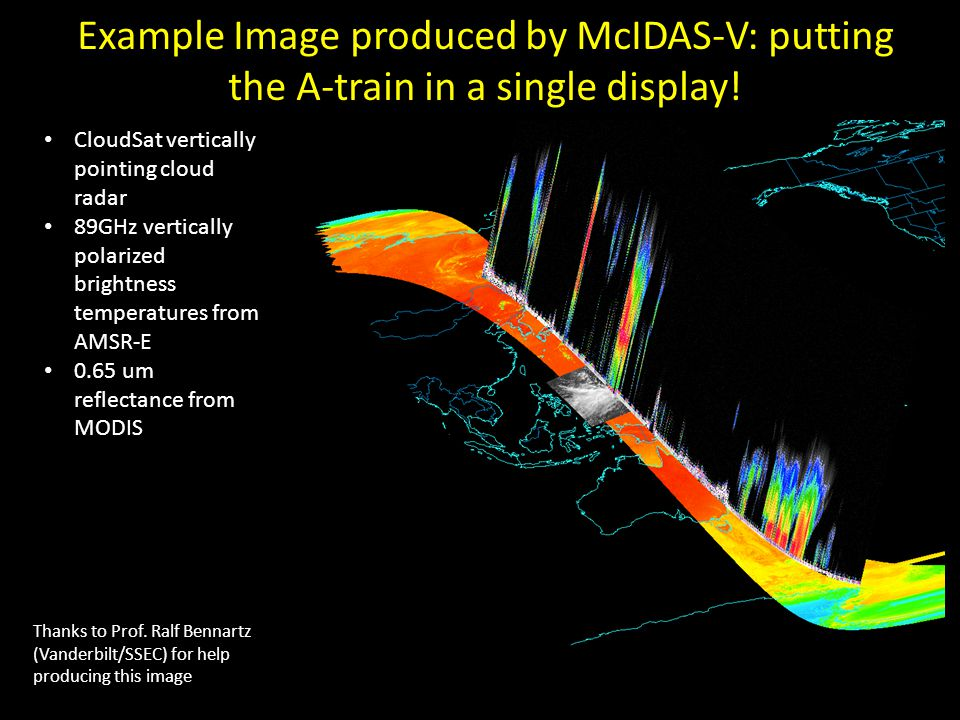 Example Image produced by McIDAS-V: putting the A-train in a single display!