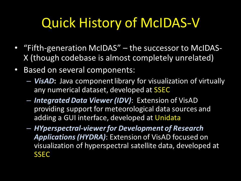 Quick History of McIDAS-V