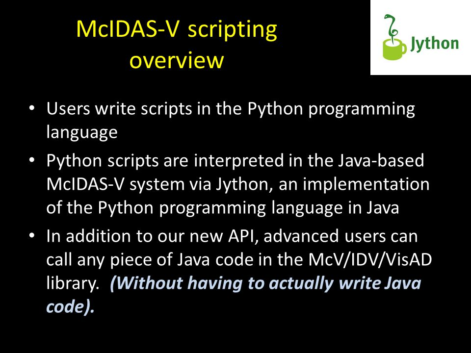 McIDAS-V scripting overview