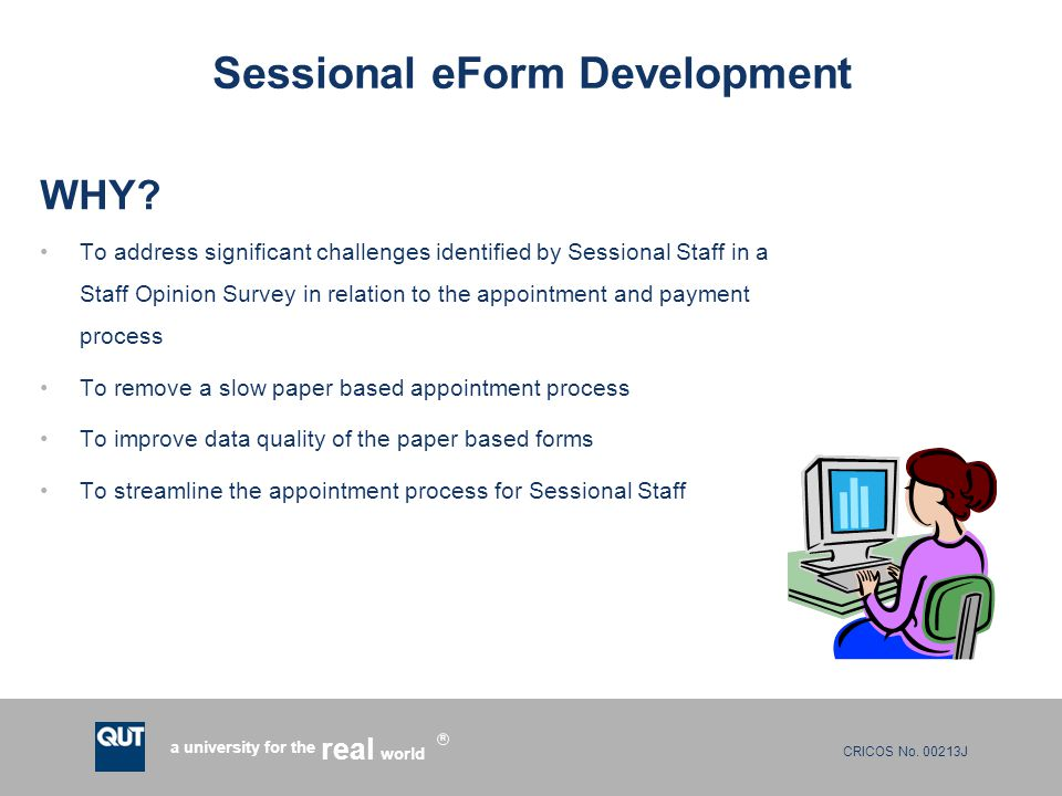 Sessional eForm Development