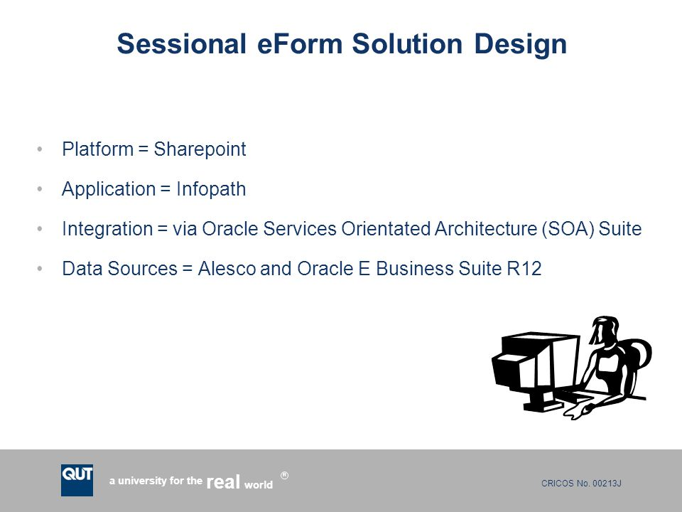 Sessional eForm Solution Design