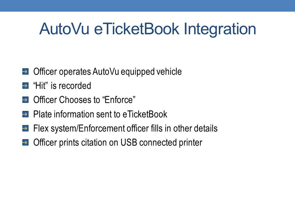 AutoVu eTicketBook Integration