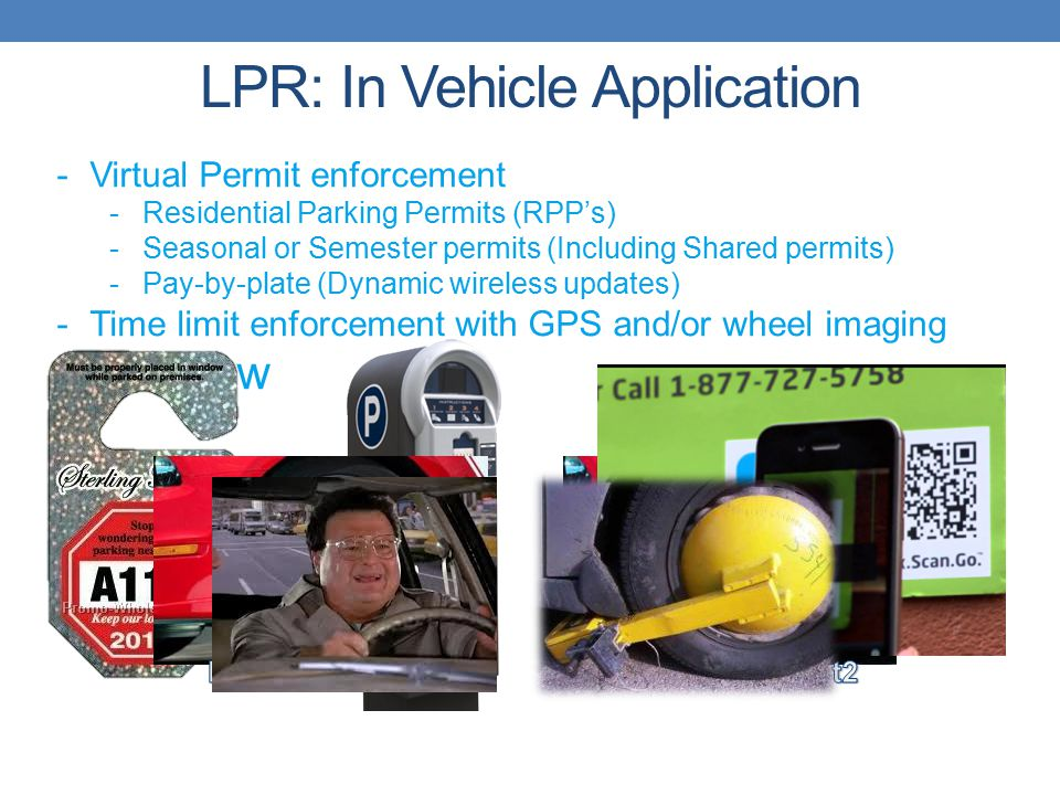 LPR: In Vehicle Application
