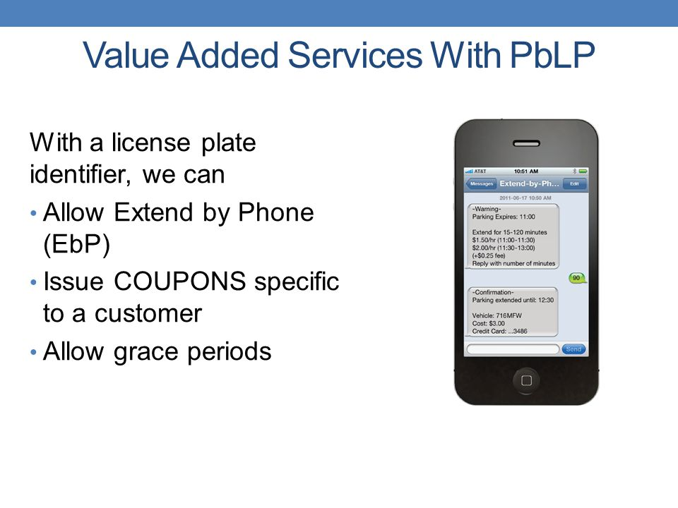 Value Added Services With PbLP