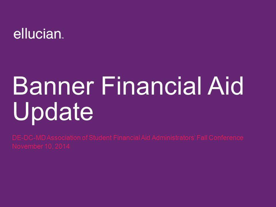 Banner Financial Aid Update