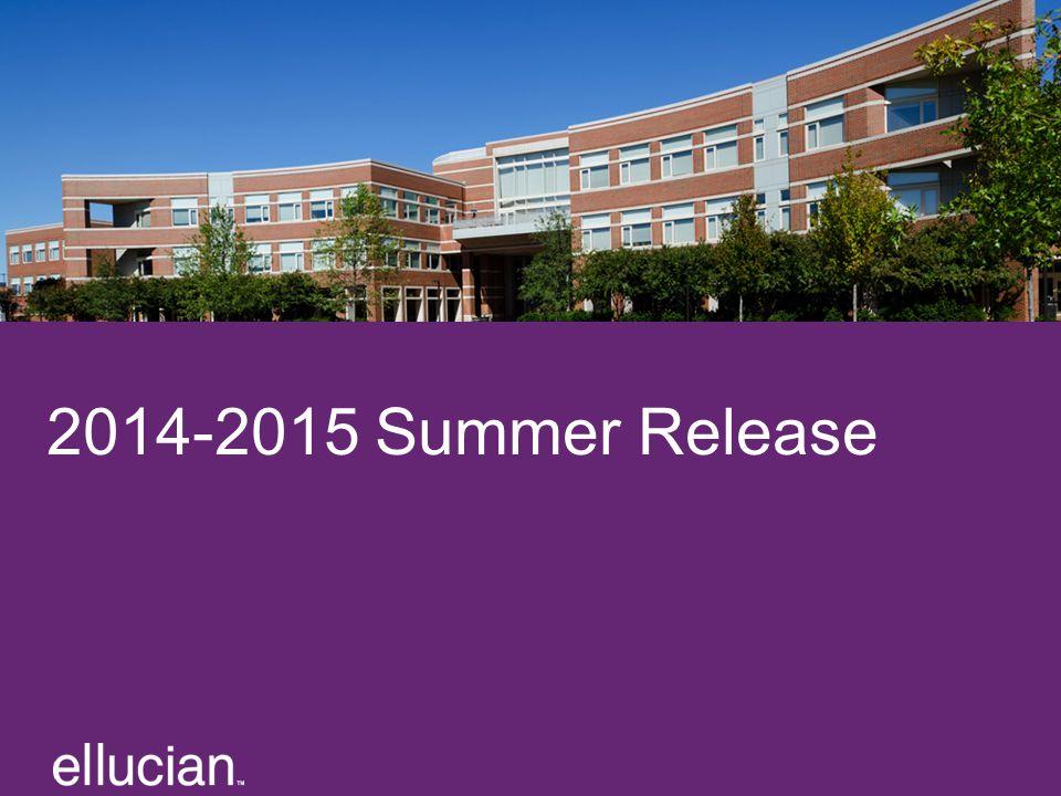 2014-2015 Summer Release