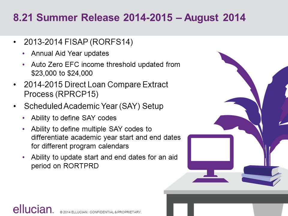 8.21 Summer Release 2014-2015 – August 2014