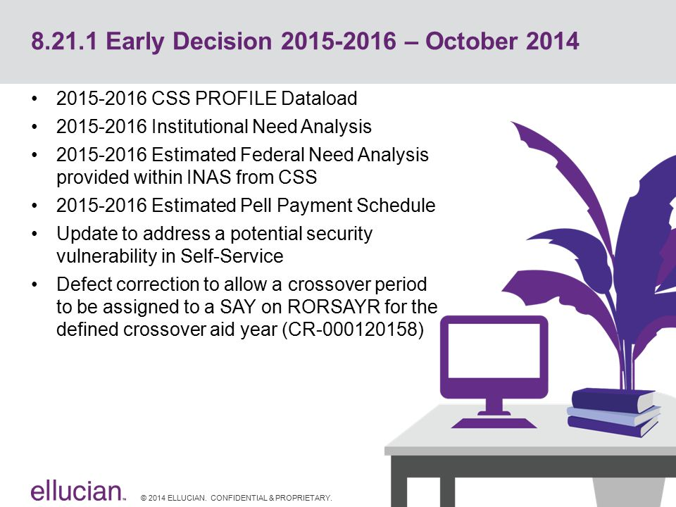 8.21.1 Early Decision 2015-2016 – October 2014