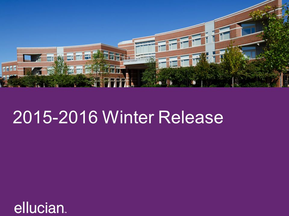 2015-2016 Winter Release