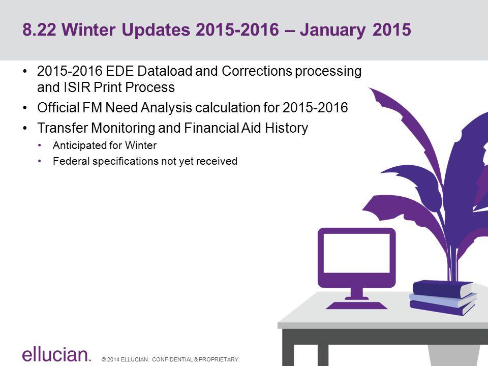 8.22 Winter Updates 2015-2016 – January 2015