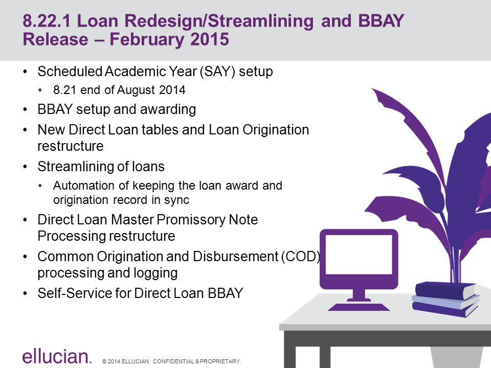 8.22.1 Loan Redesign/Streamlining and BBAY Release – February 2015