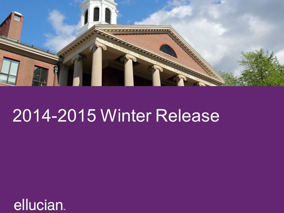 2014-2015 Winter Release Text