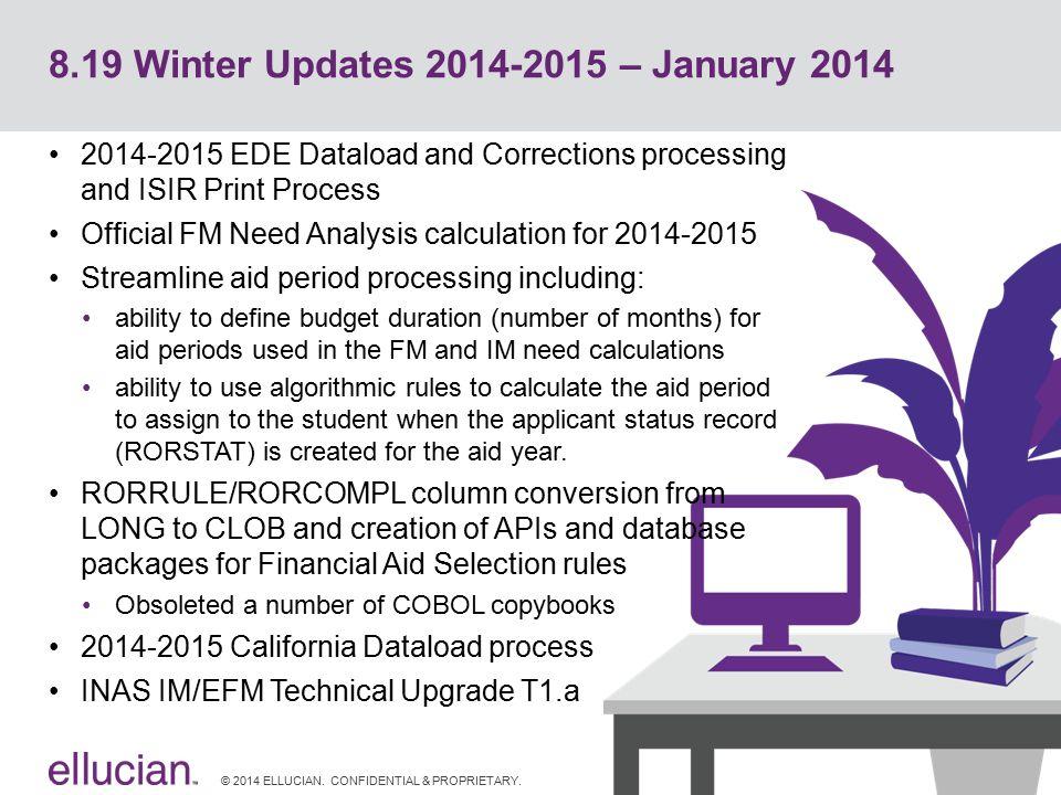 8.19 Winter Updates 2014-2015 – January 2014