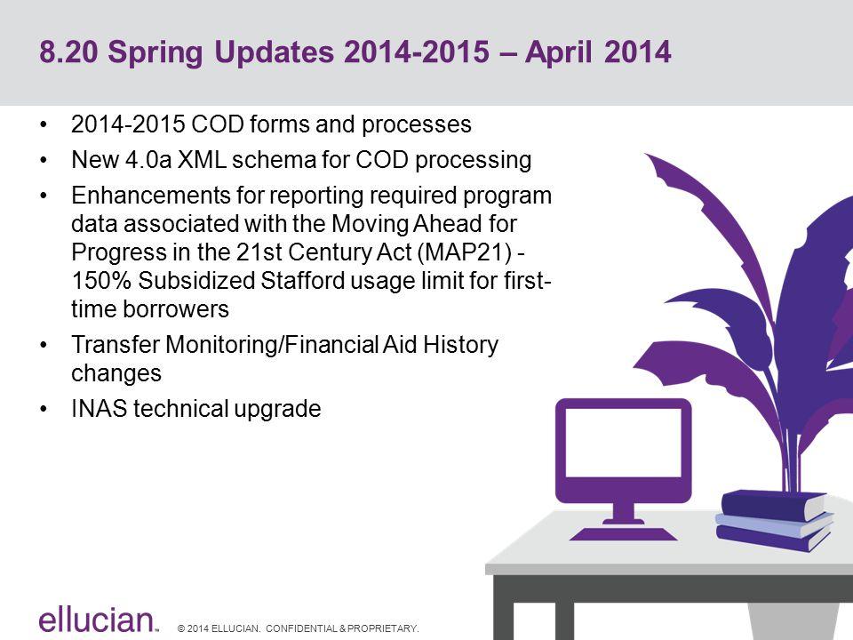 8.20 Spring Updates 2014-2015 – April 2014