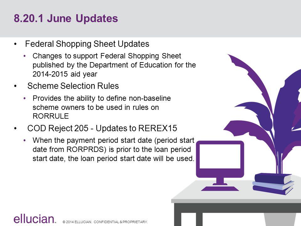 8.20.1 June Updates Federal Shopping Sheet Updates