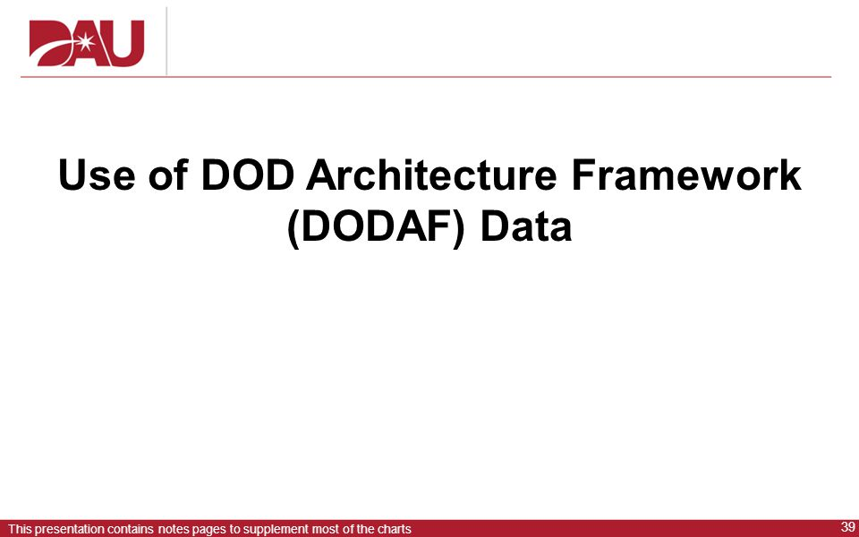Use of DOD Architecture Framework