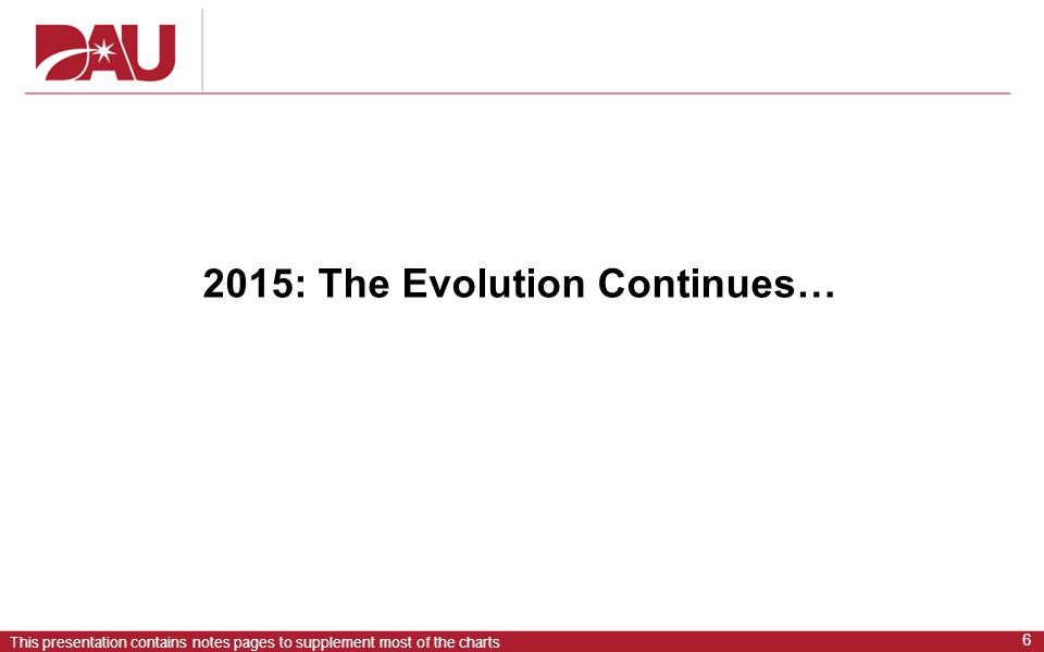 2015: The Evolution Continues…