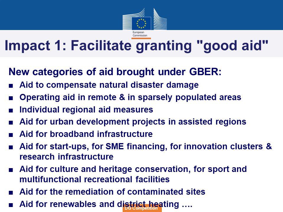 Impact 1: Facilitate granting good aid