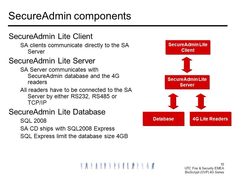 SecureAdmin components