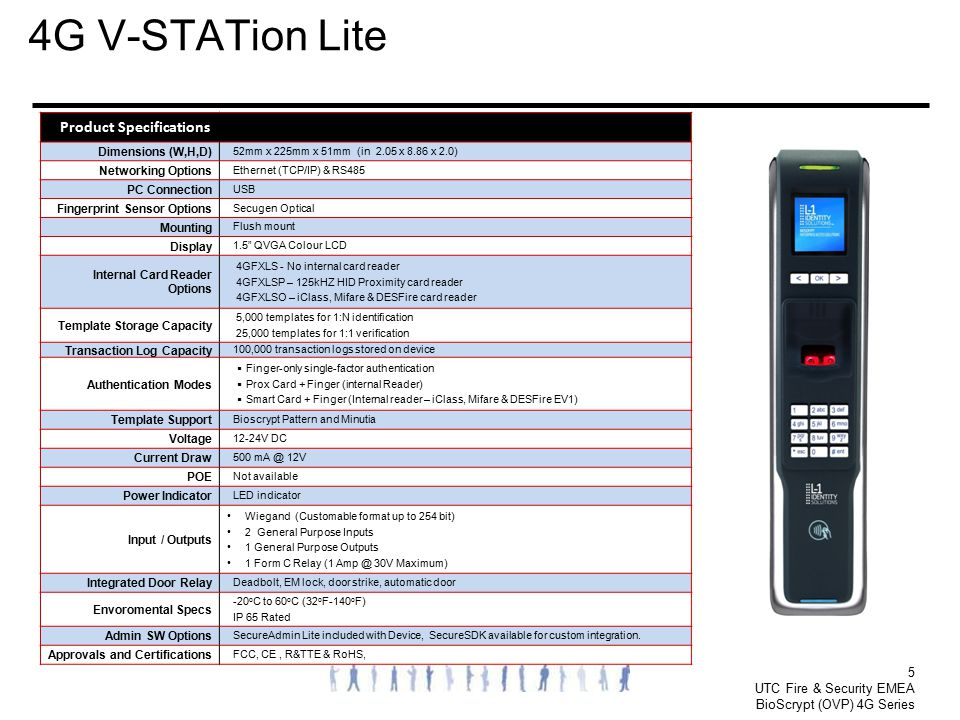 4G V-STATion Lite 5 Product Specifications Dimensions (W,H,D)