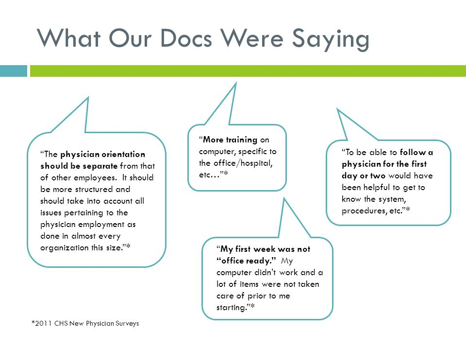 What Our Docs Were Saying