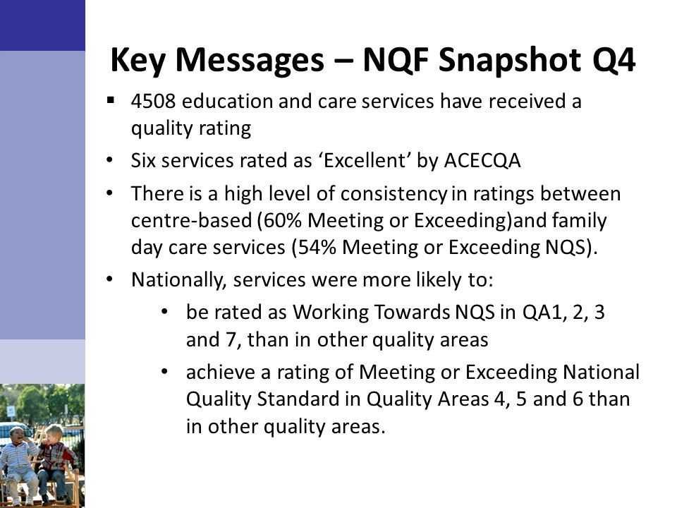 Key Messages – NQF Snapshot Q4