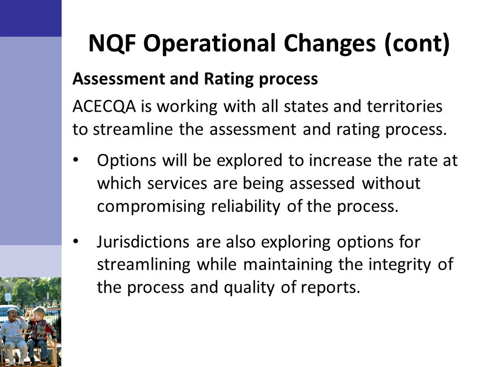 NQF Operational Changes (cont)