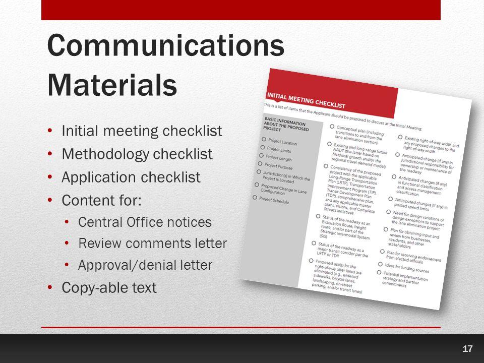 Communications Materials