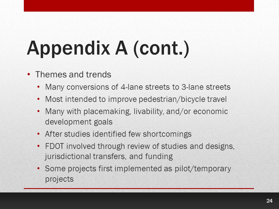 Appendix A (cont.) Themes and trends