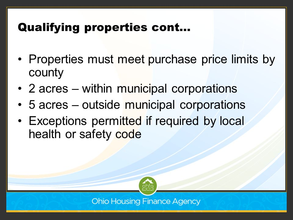 Qualifying properties cont…