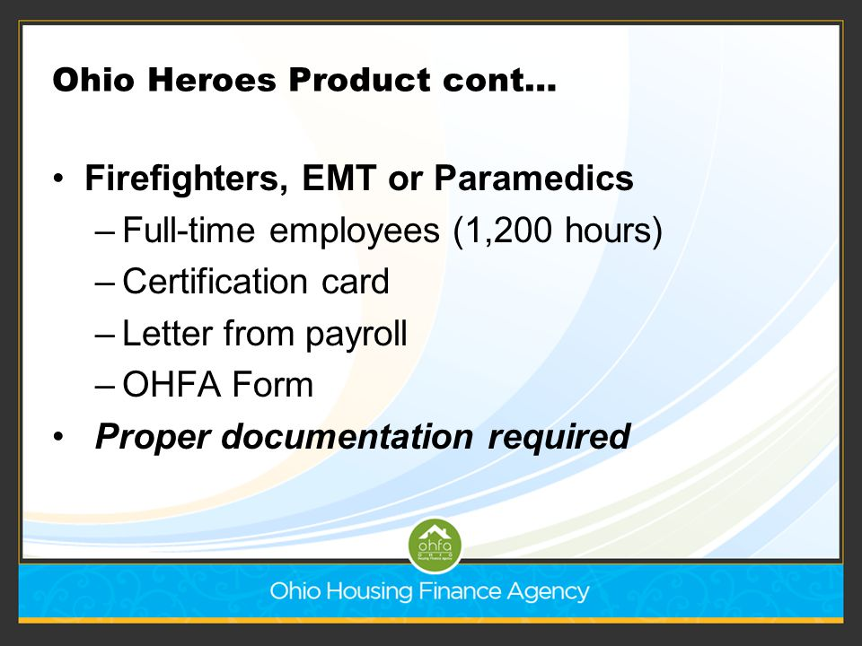 Ohio Heroes Product cont…