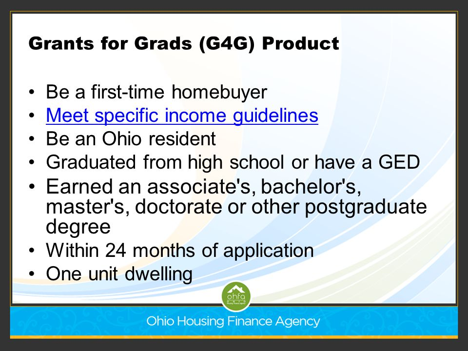 Grants for Grads (G4G) Product