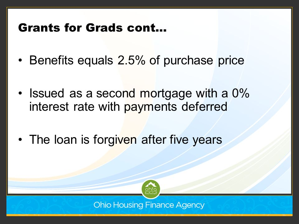 Benefits equals 2.5% of purchase price