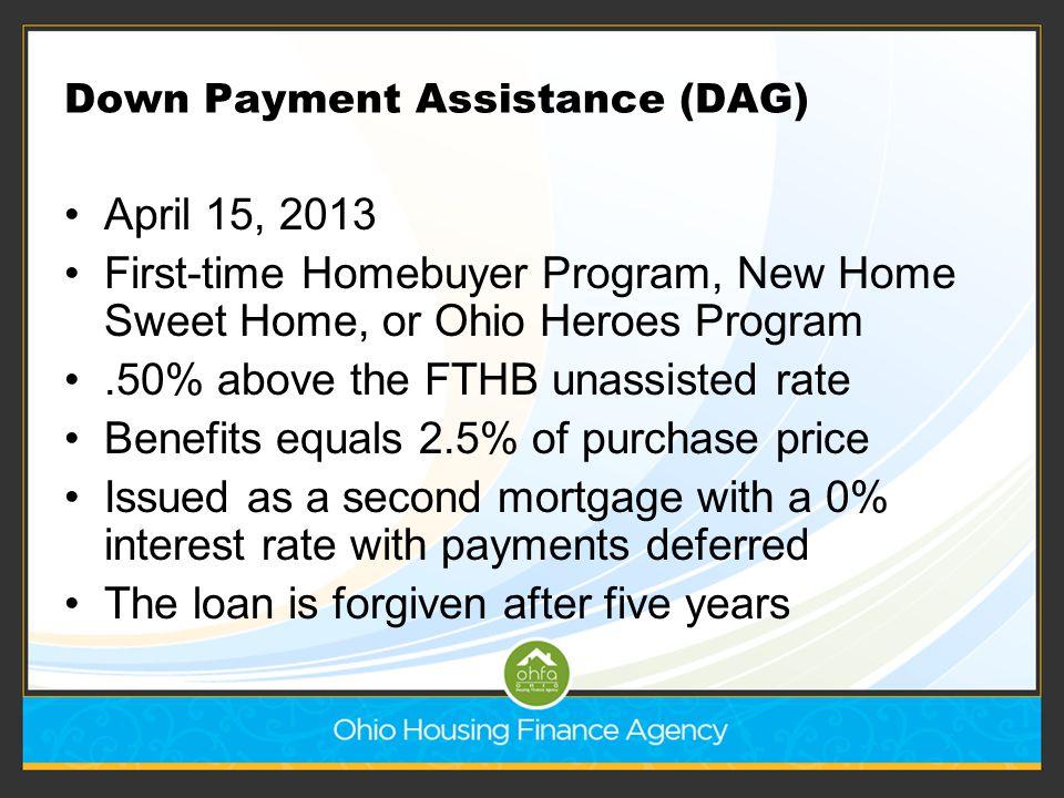 Down Payment Assistance (DAG)