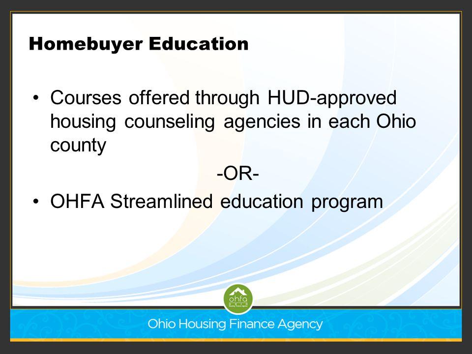 OHFA Streamlined education program