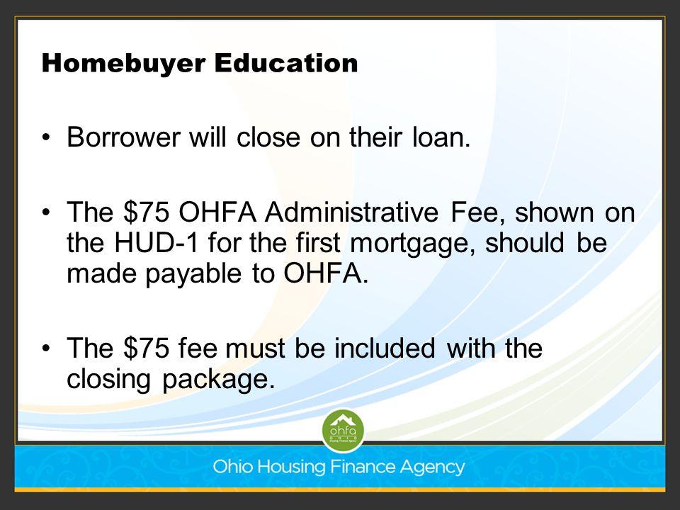 Borrower will close on their loan.