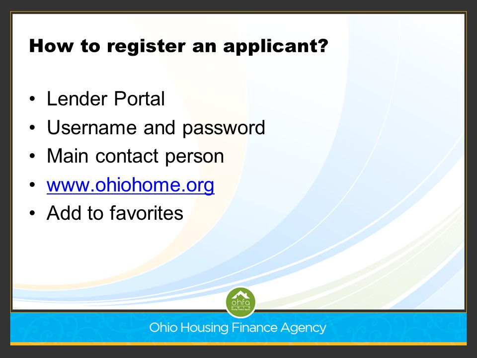How to register an applicant