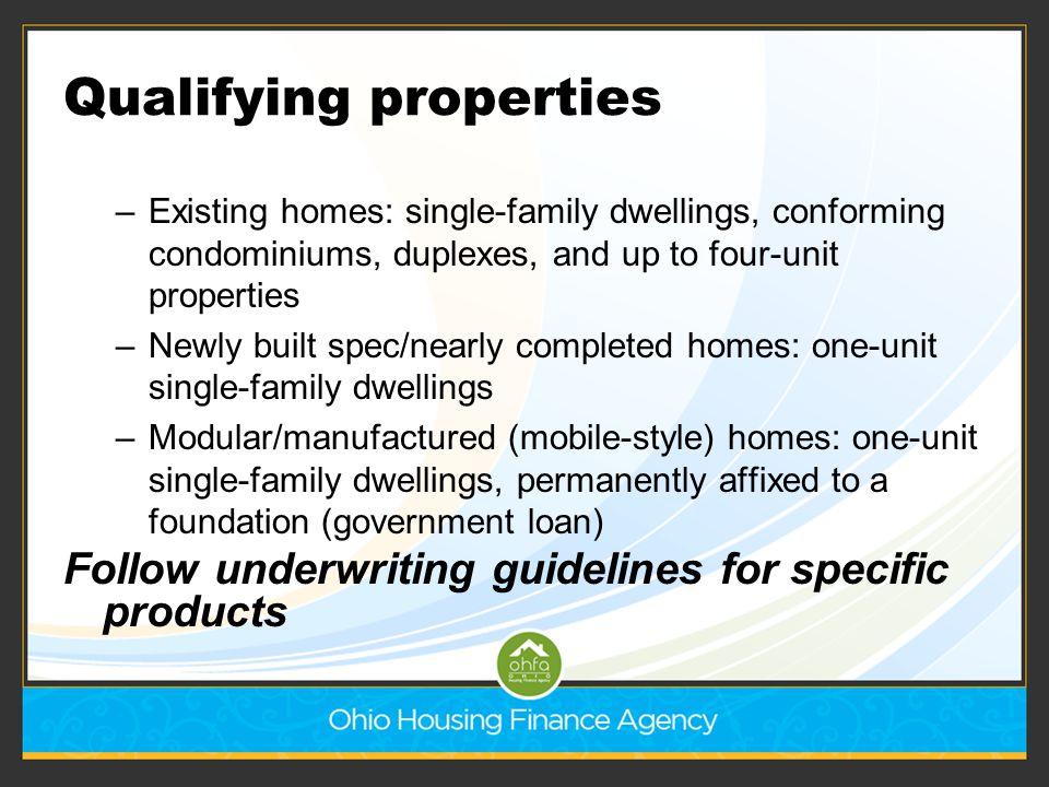 Qualifying properties